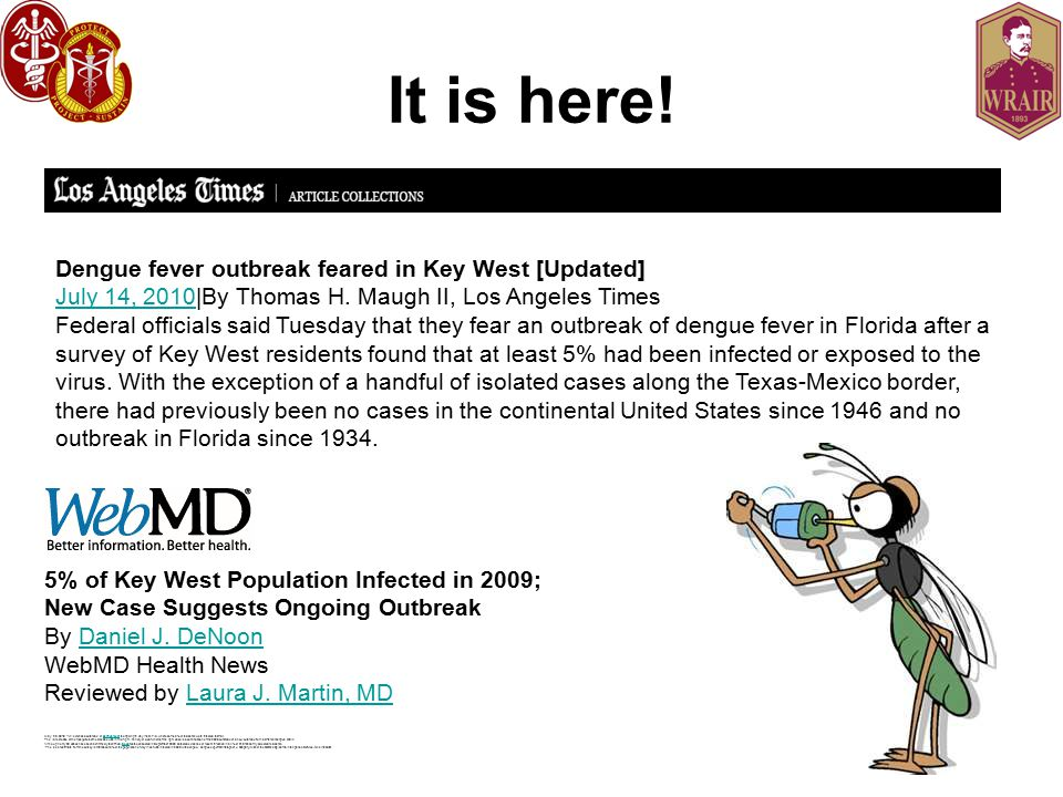 It is here! Dengue fever outbreak feared in Key West [Updated]